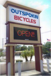 Outspokin sign