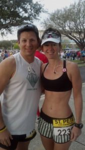 Stephanie & I at the start
