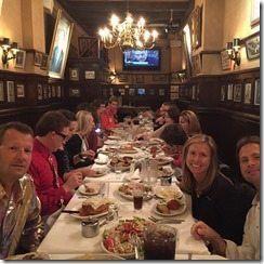 NYC Marathon Carmines Table