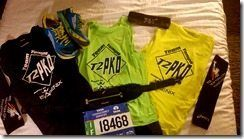 NYC Marathon The Night Before clothes layout