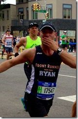 NYC Marathon brad behind ryan